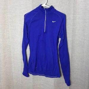 Nike Blue/purple half zip pullover